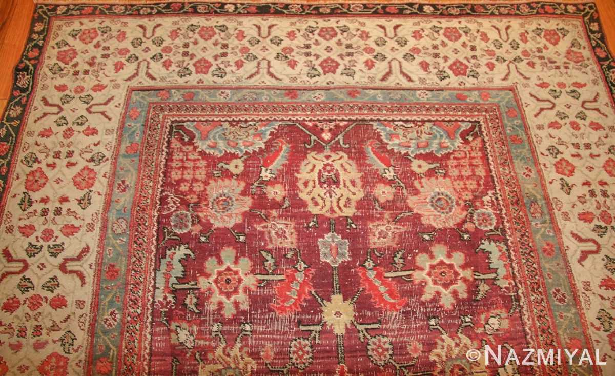 antique indian agra rug 49185 top edited Nazmiyal