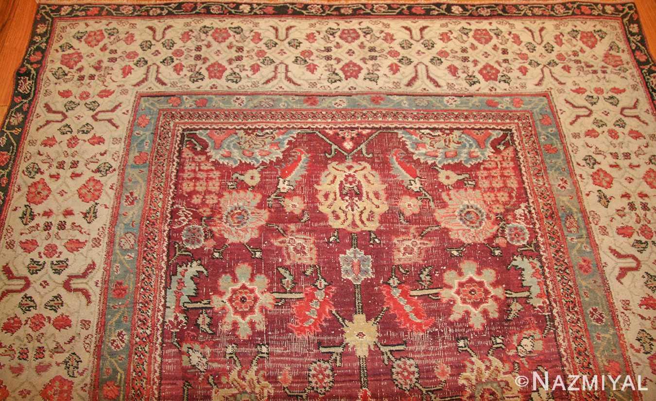 antique indian agra rug 49185 top edited Nazmiyal