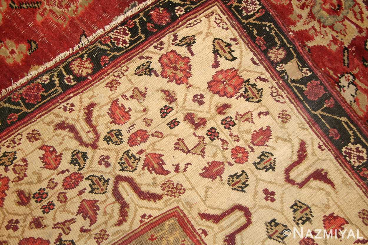 antique indian agra rug 49185 weave edited Nazmiyal