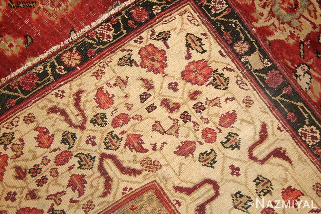 antique indian agra rug 49185 weave edited Nazmiyal