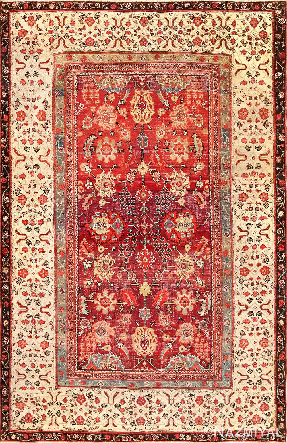 antique indian agra rug 49185 Nazmiyal
