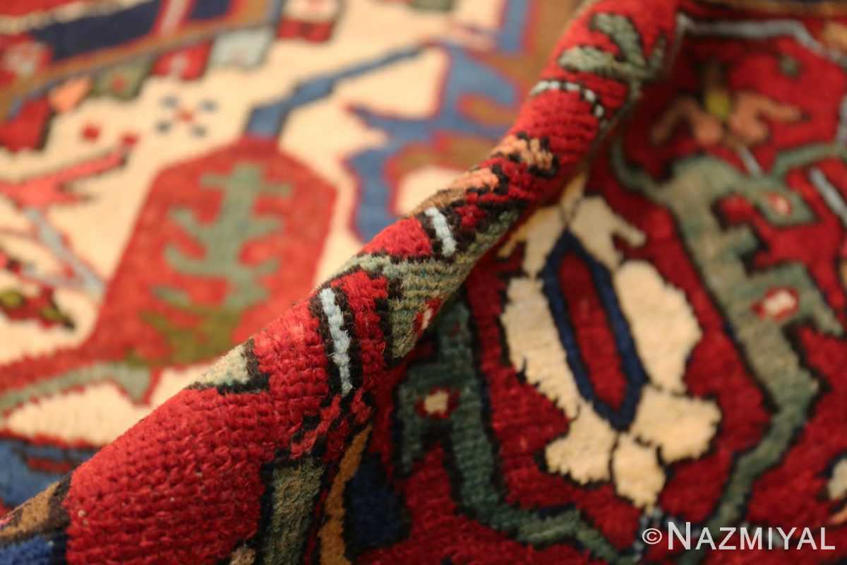 antique persian heriz 49213 pile Nazmiyal