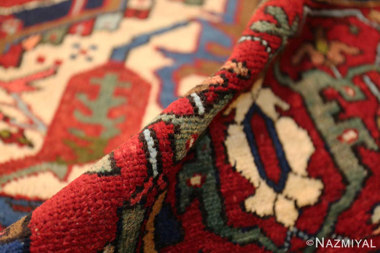 antique persian heriz 49213 pile Nazmiyal
