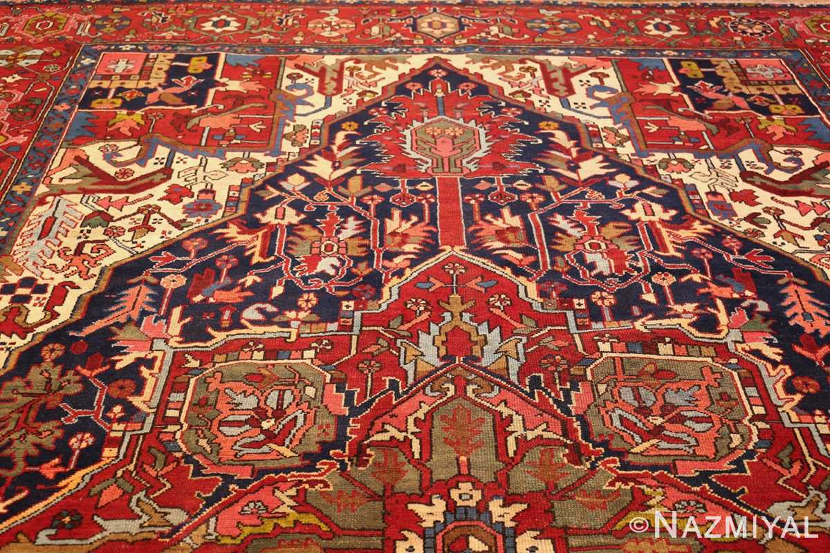 antique persian heriz 49213 top Nazmiyal