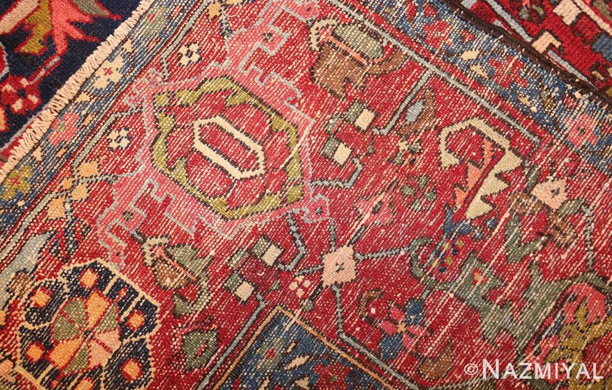 antique persian heriz 49213 weave Nazmiyal