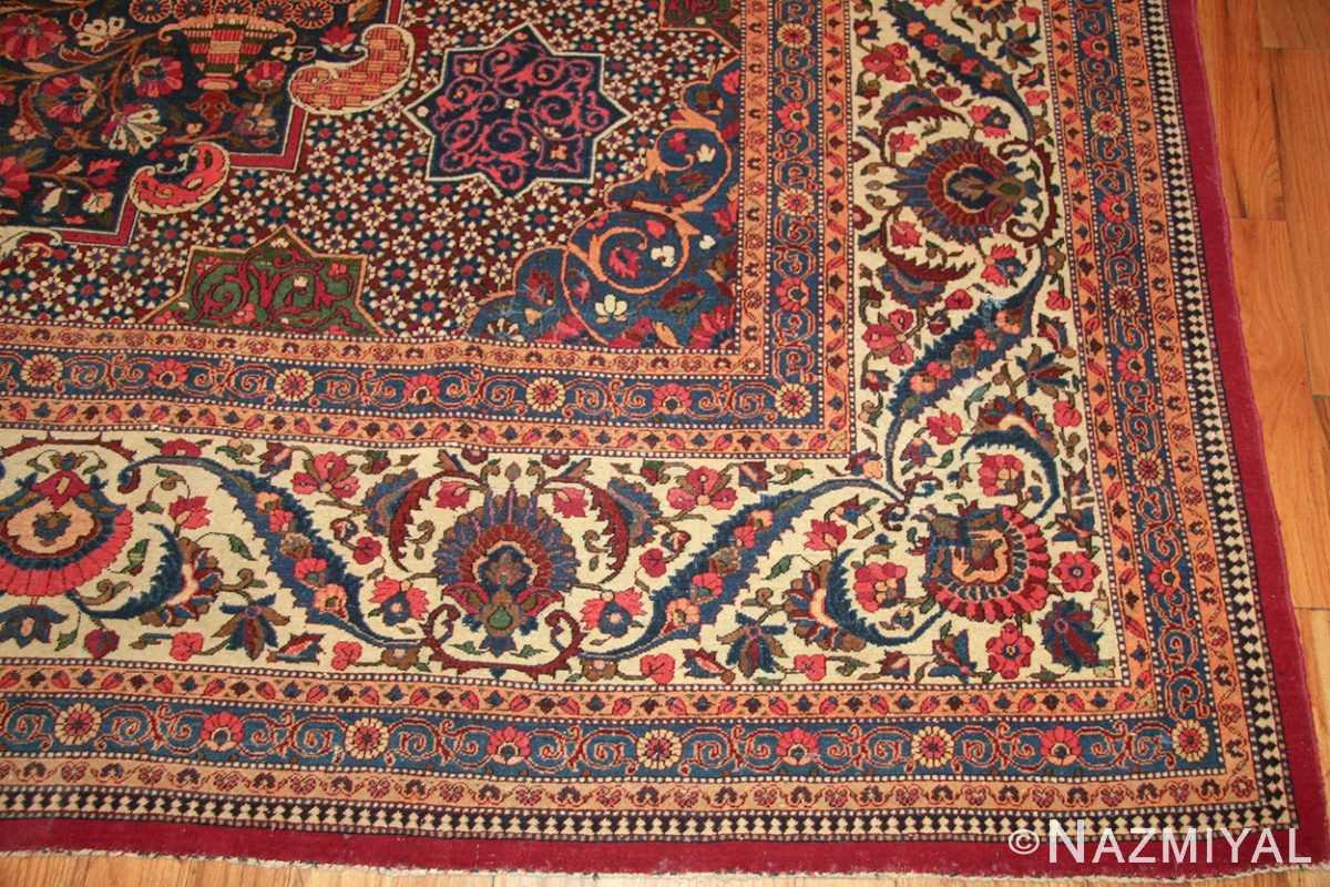 antique persian kashan dabir rug 49193 corner Nazmiyal