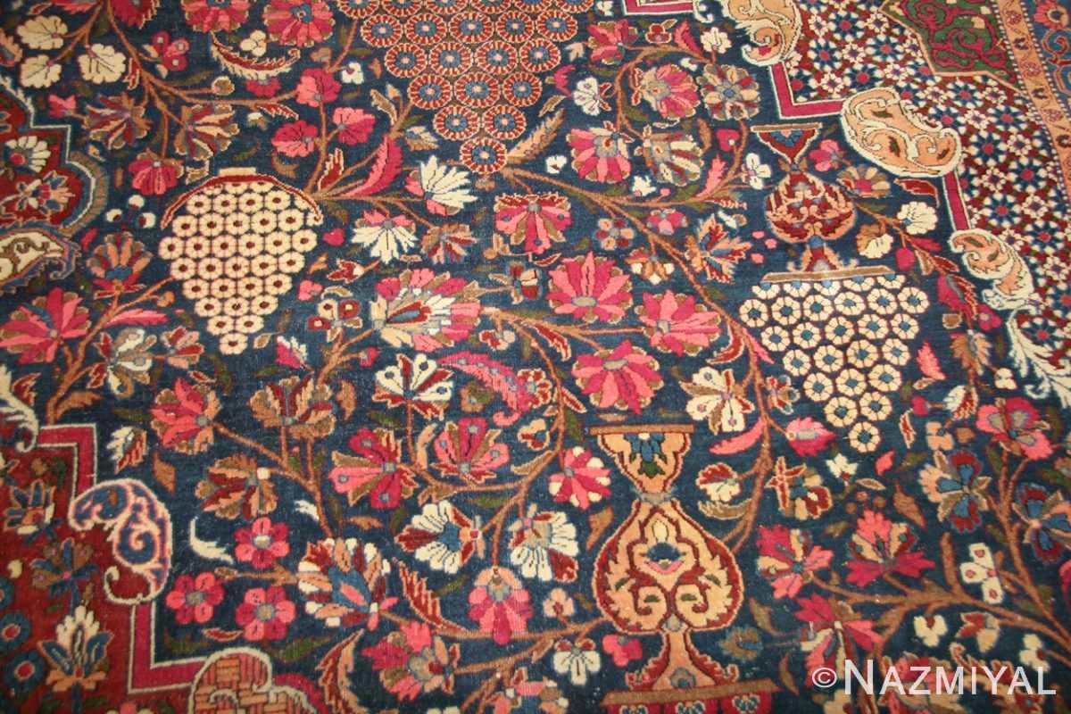 antique persian kashan dabir rug 49193 detail Nazmiyal