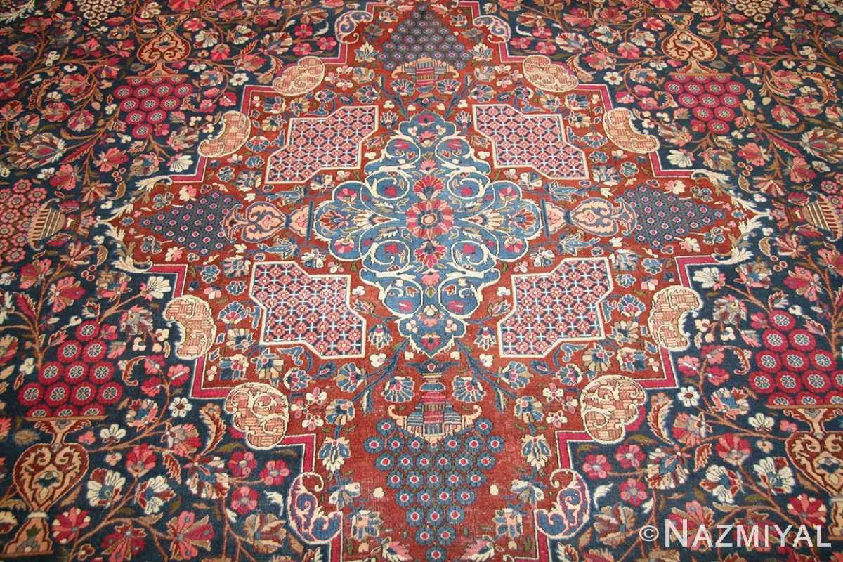 antique persian kashan dabir rug 49193 medallion Nazmiyal