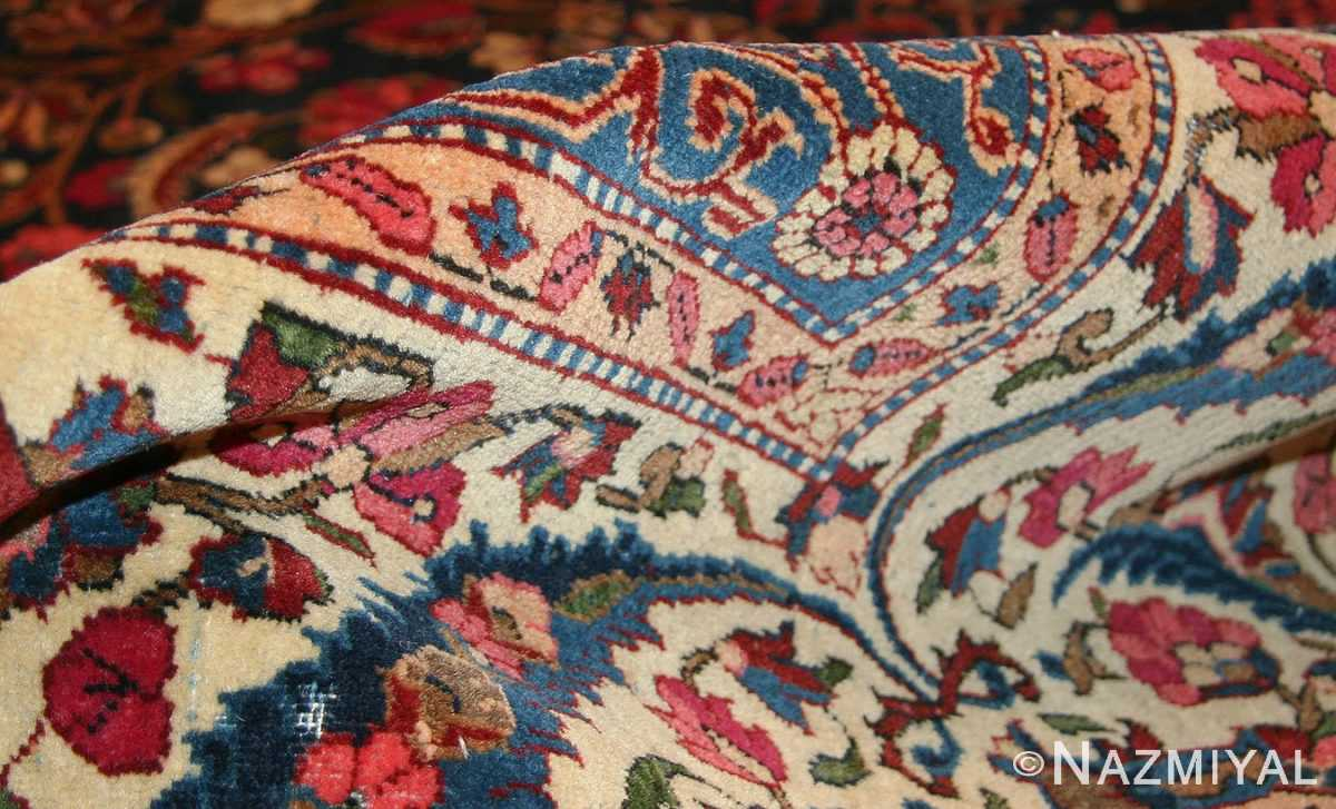antique persian kashan dabir rug 49193 pile Nazmiyal