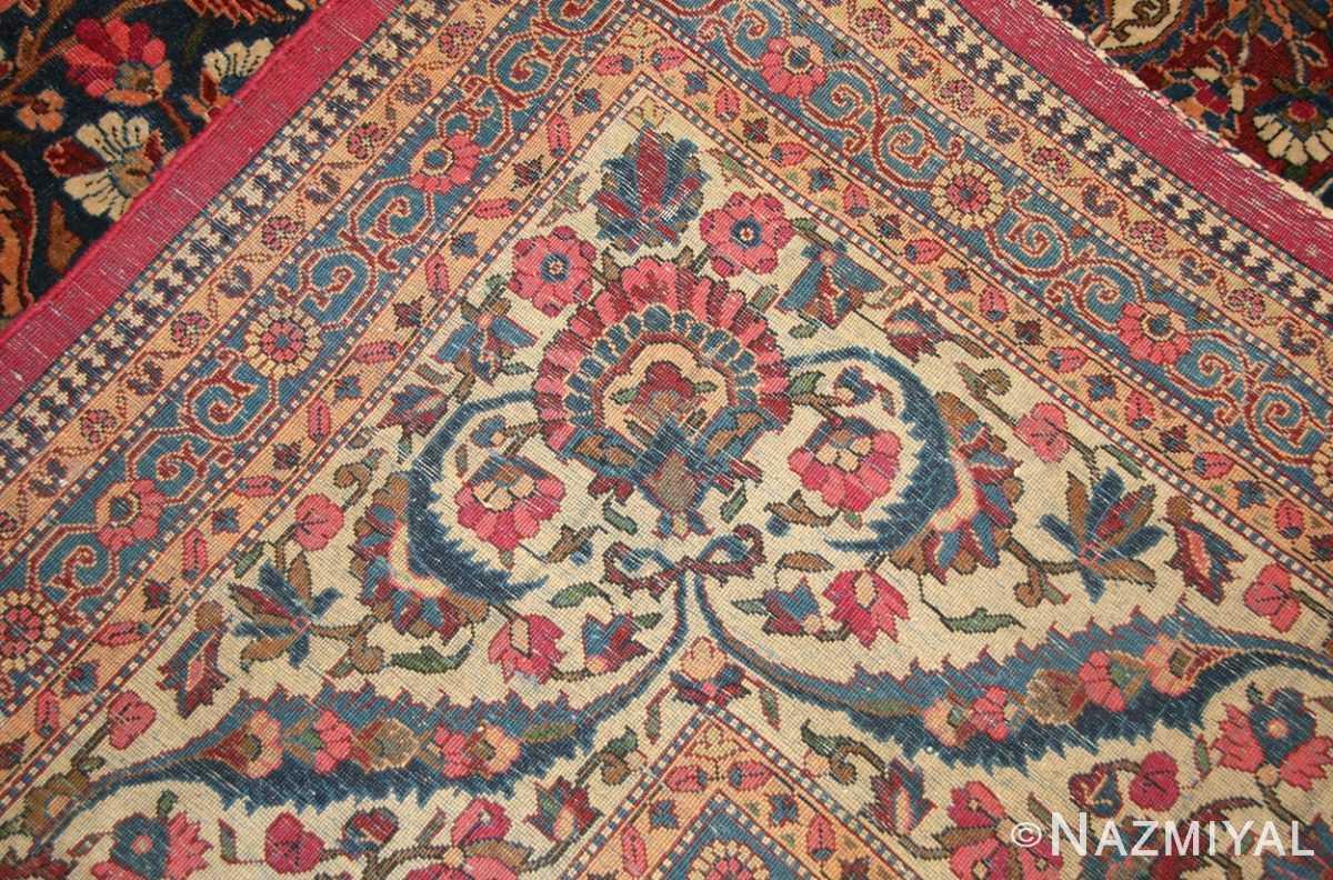 antique persian kashan dabir rug 49193 weave Nazmiyal