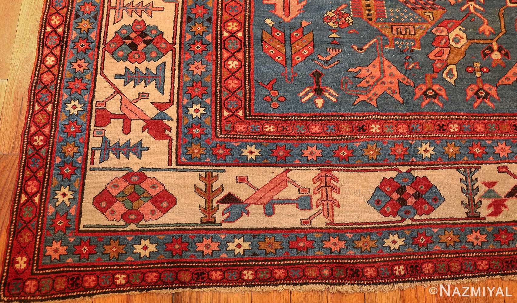 antique tribal medallion persian bakshaish rug 49199 corner Nazmiyal