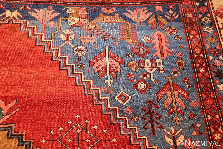 antique tribal medallion persian bakshaish rug 49199 details Nazmiyal