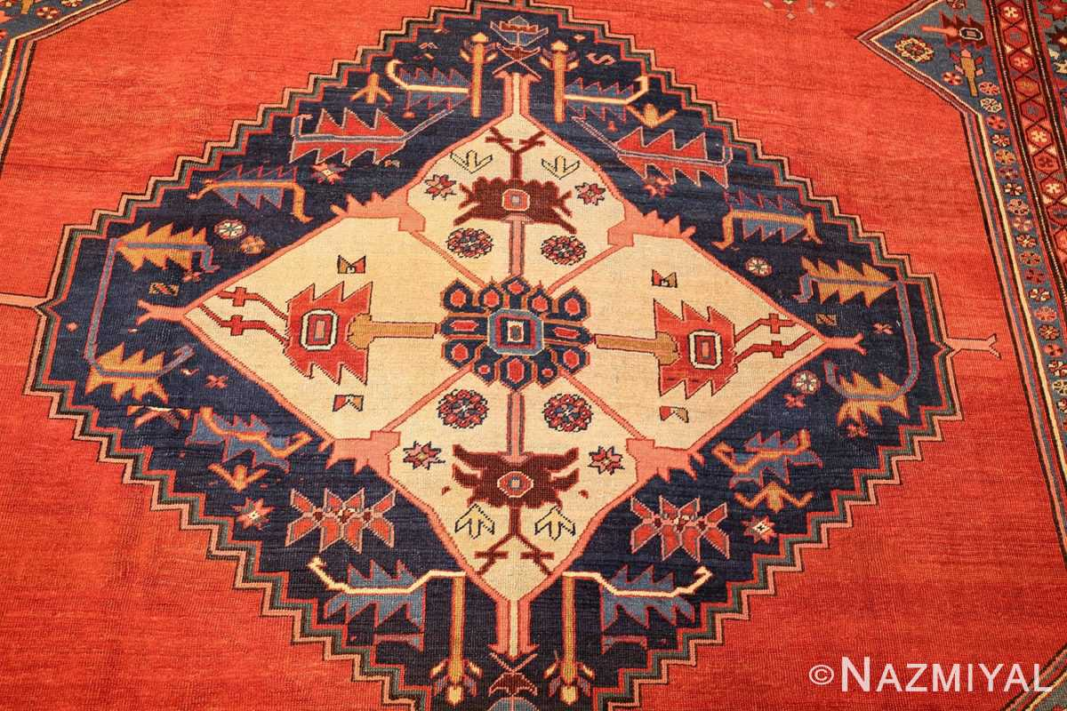 antique tribal medallion persian bakshaish rug 49199 medallion Nazmiyal