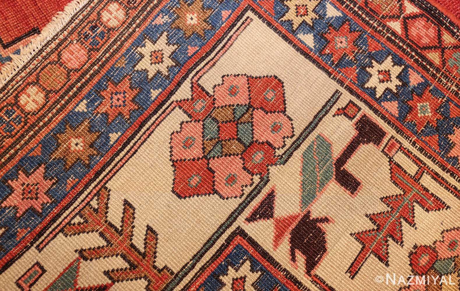 antique tribal medallion persian bakshaish rug 49199 weave Nazmiyal