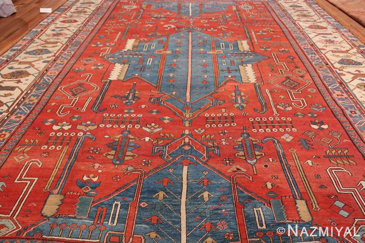 Antique Tribal Persian Bakshaish Rug 49137 Field Design Nazmiyal
