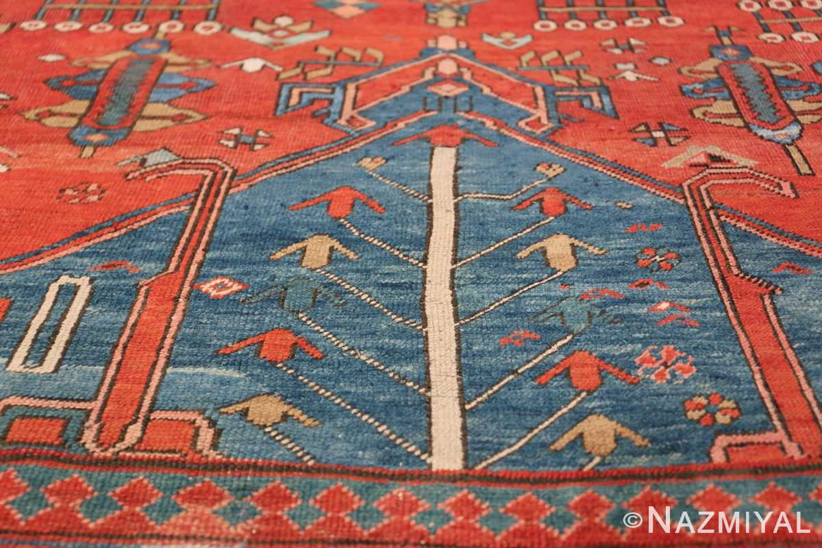 Antique Tribal Persian Bakshaish Rug 49137 Lower Triangle Nazmiyal
