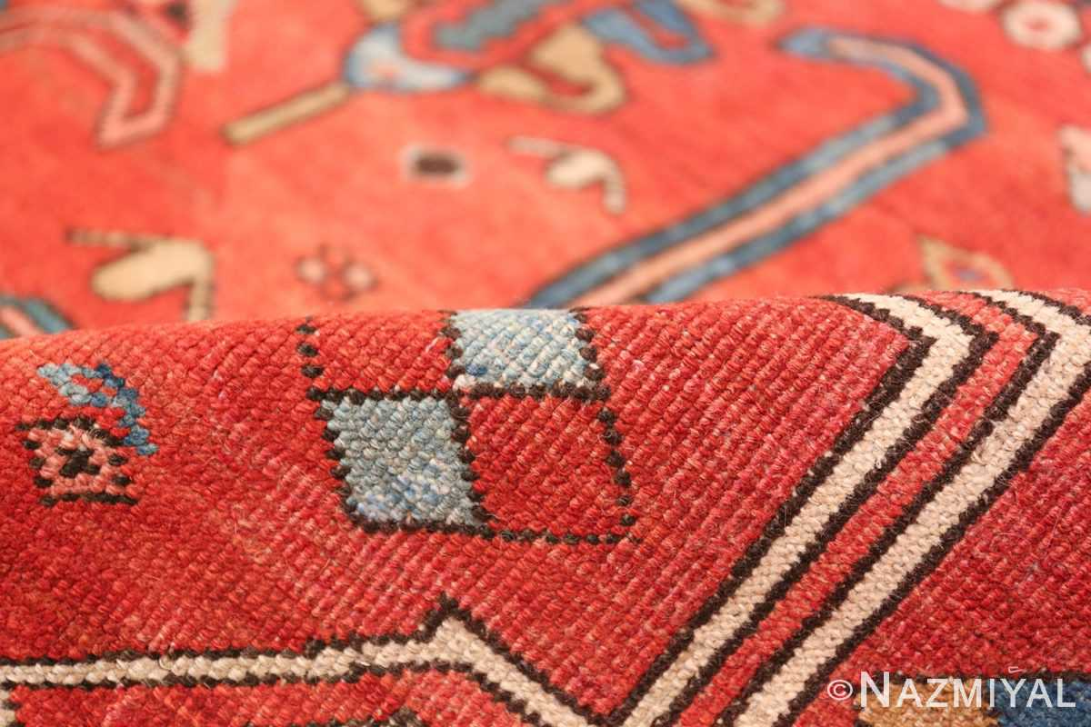 Antique Tribal Persian Bakshaish Rug 49137 Red Pile Nazmiyal