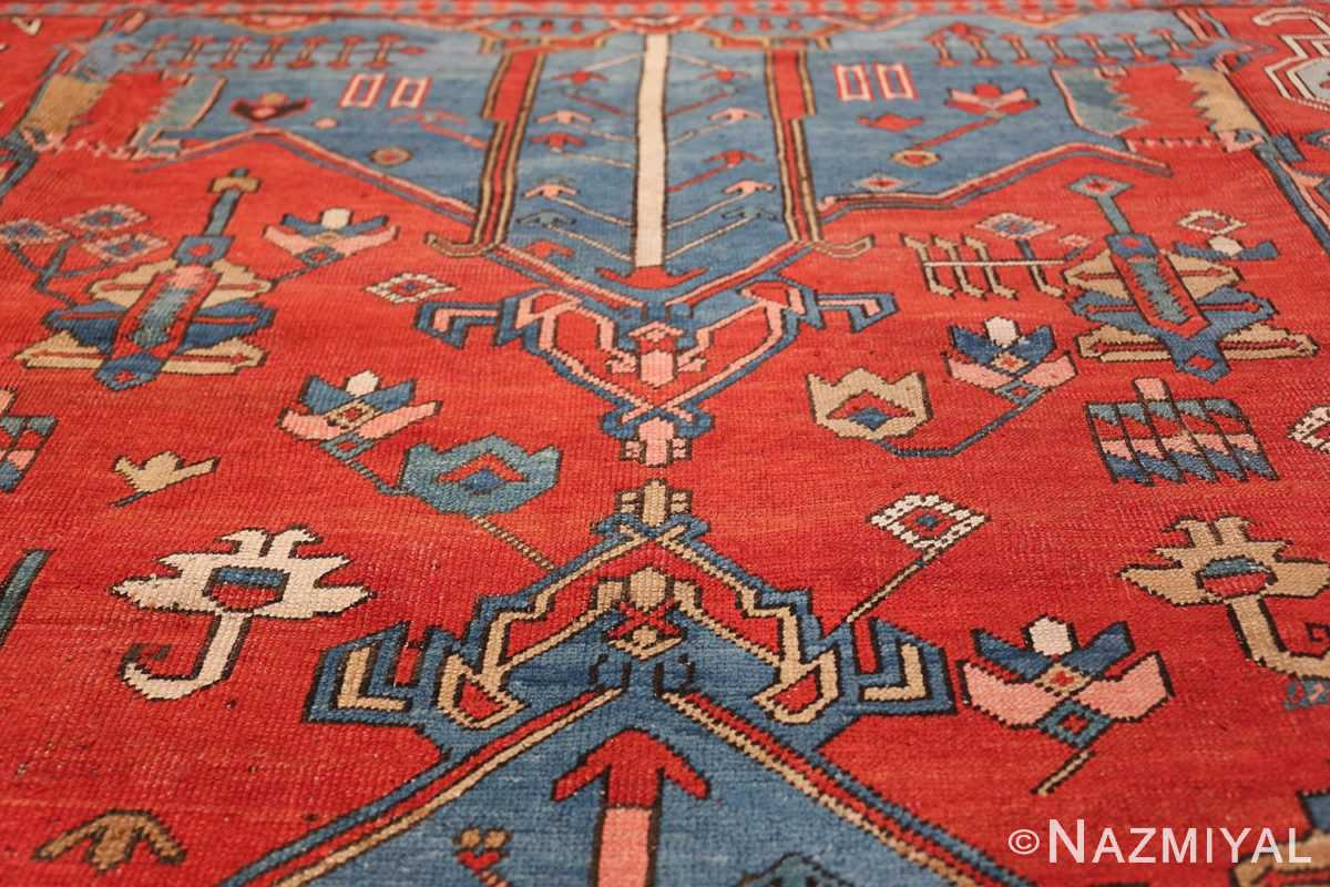 Antique Tribal Persian Bakshaish Rug 49137 Tiara Pattern Nazmiyal
