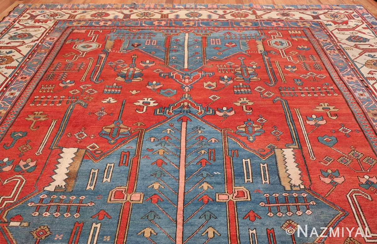 Antique Tribal Persian Bakshaish Rug 49137 Top Design Nazmiyal