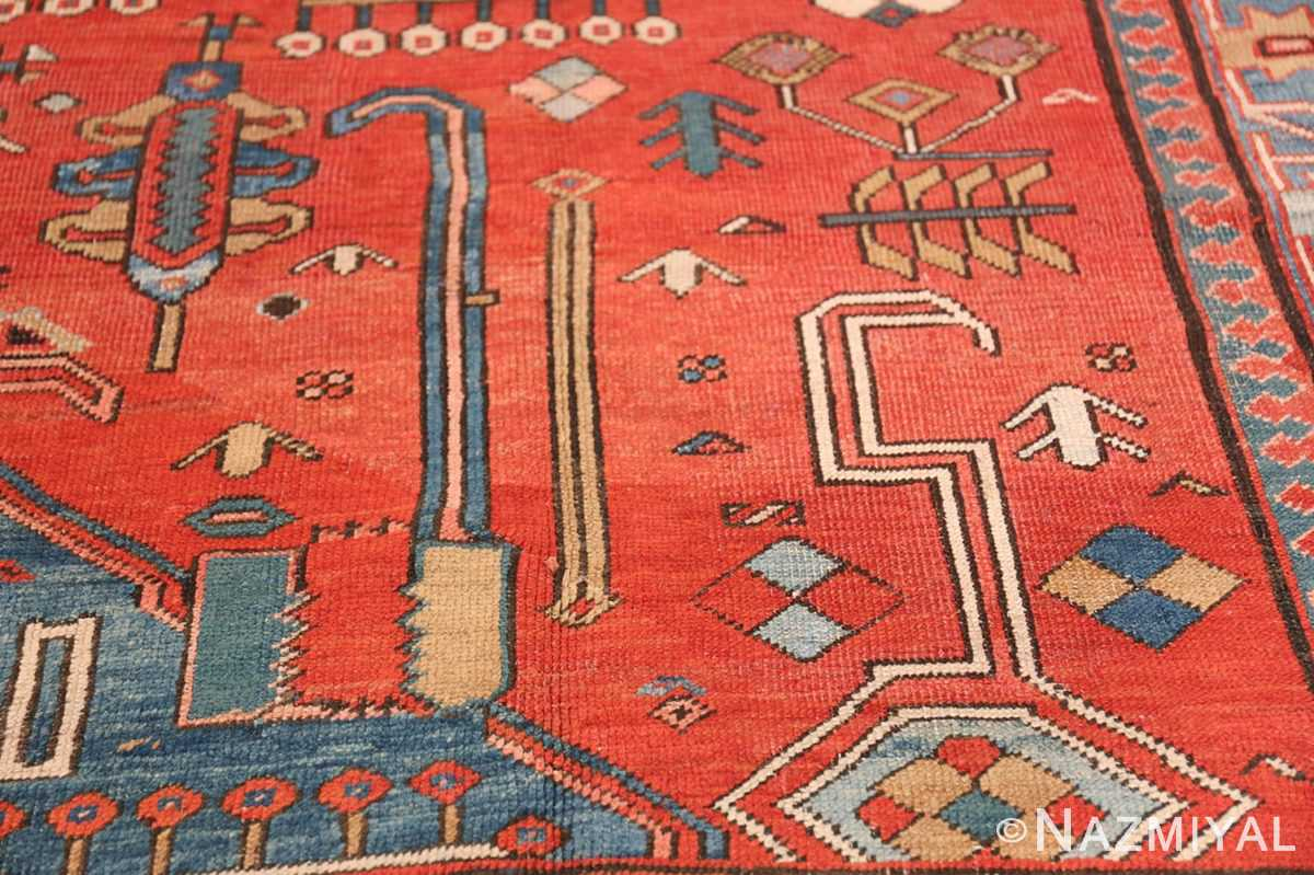 Antique Tribal Persian Bakshaish Rug 49137 Tribal Shapes Nazmiyal