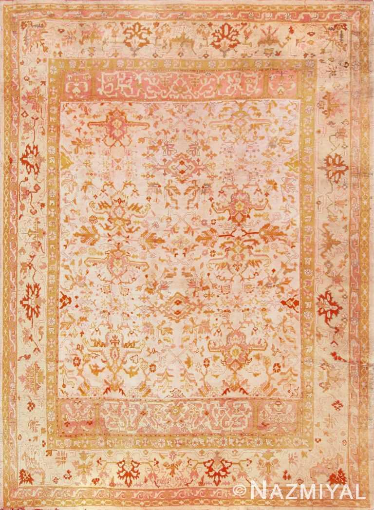antique turkish oushak rug 49188 Nazmiyal