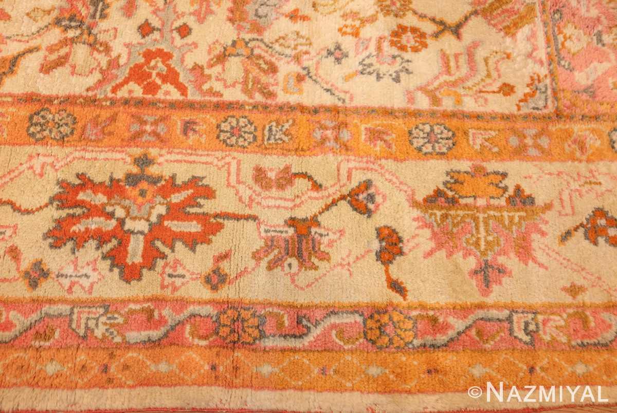 antique turkish oushak rug 49188 border Nazmiyal