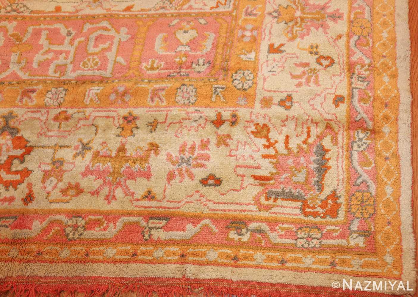 antique turkish oushak rug 49188 corner Nazmiyal