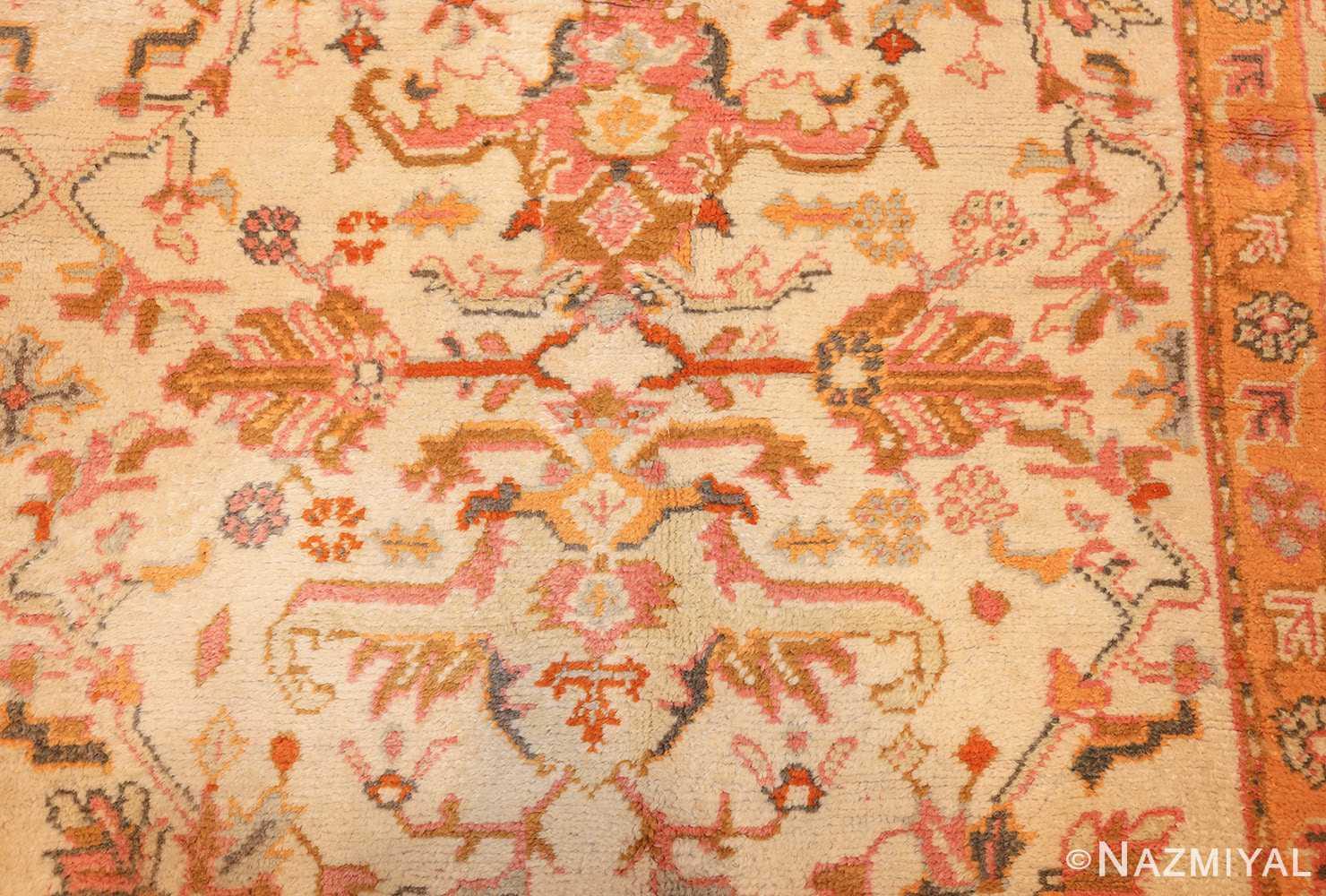 antique turkish oushak rug 49188 design Nazmiyal