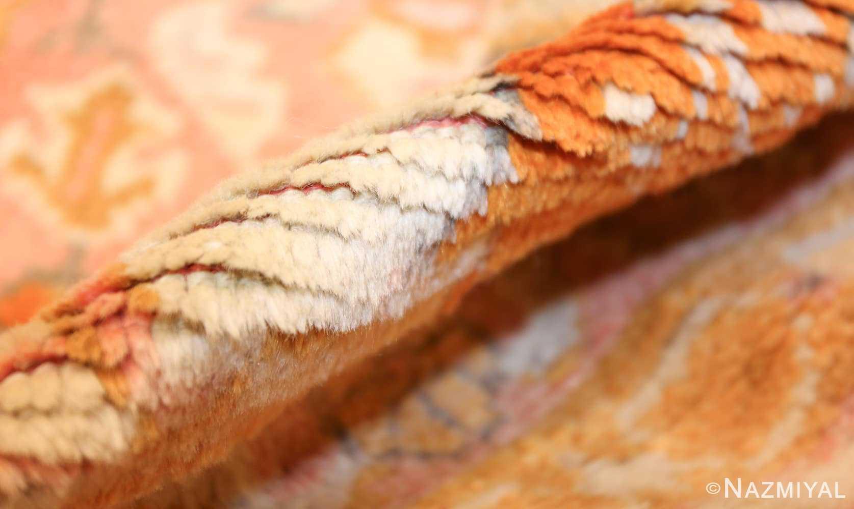 antique turkish oushak rug 49188 pile Nazmiyal