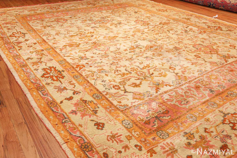 antique turkish oushak rug 49188 side Nazmiyal
