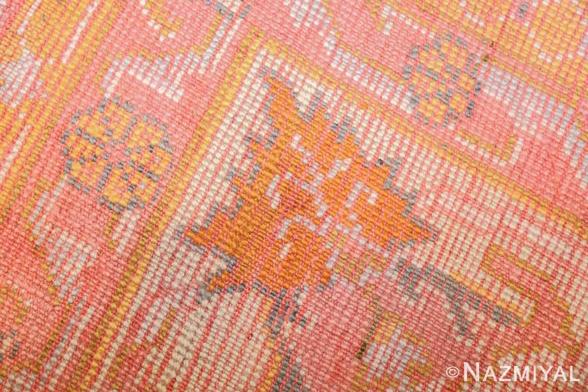 antique turkish oushak rug 49188 weave Nazmiyal