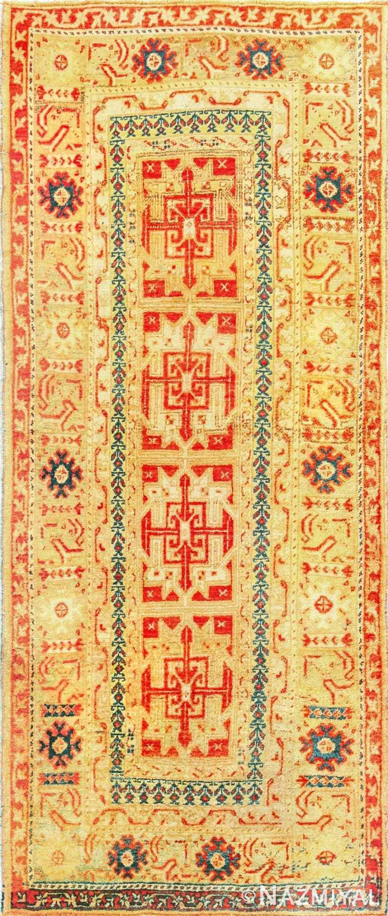 antique turkish oushak rug 49203 Nazmiyal