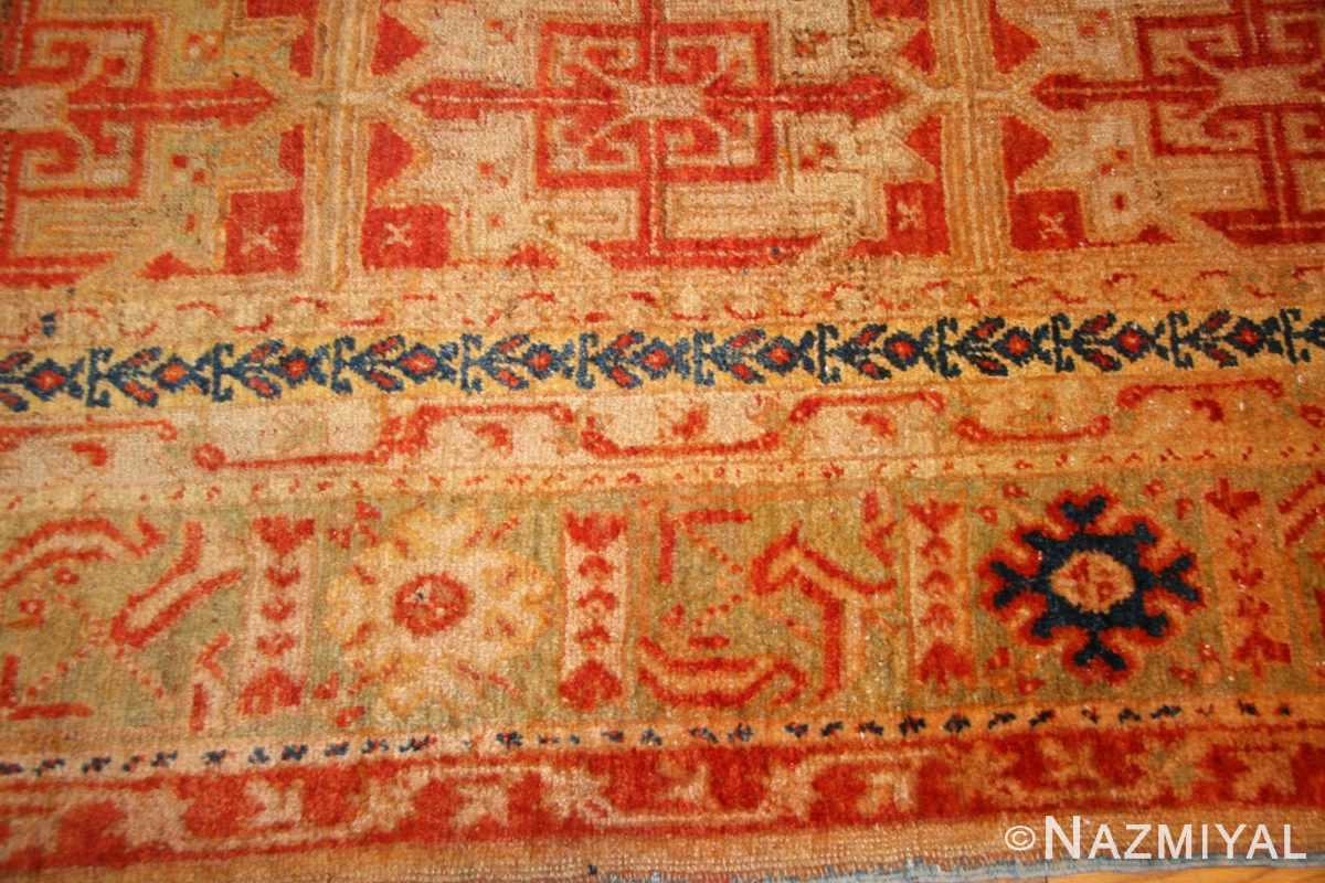 antique turkish oushak runner 49203 border Nazmiyal