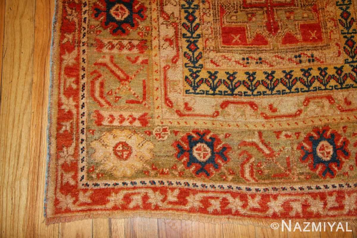 antique turkish oushak runner 49203 corner Nazmiyal