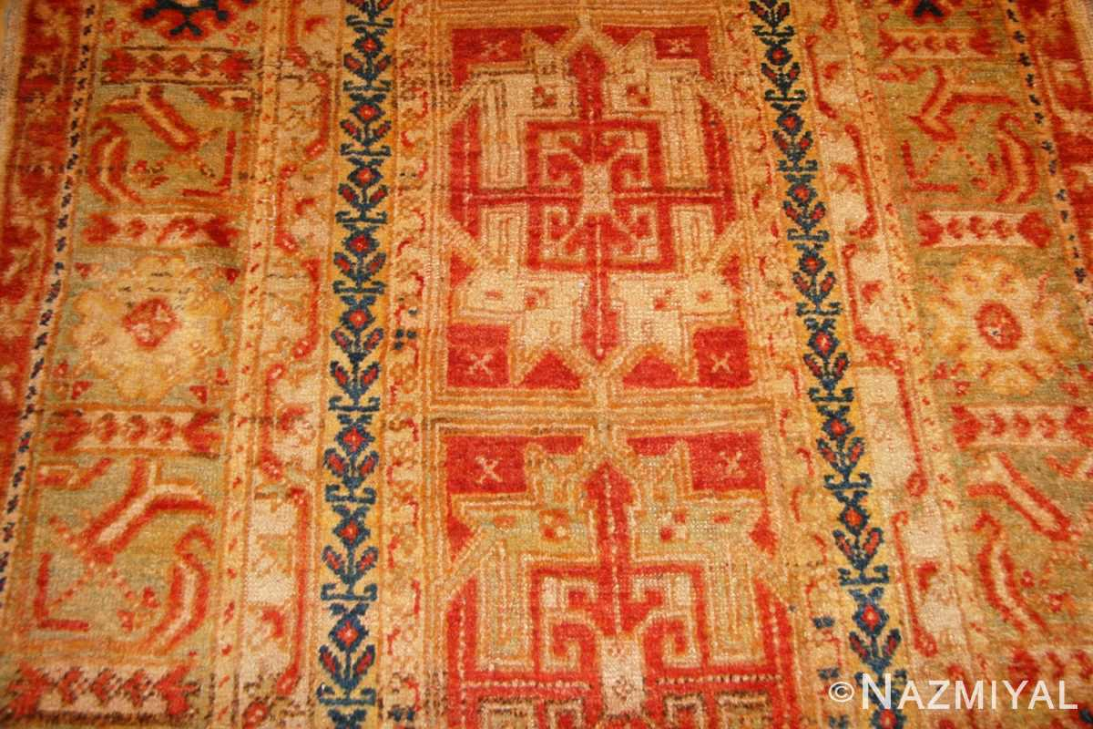 antique turkish oushak runner 49203 detail Nazmiyal