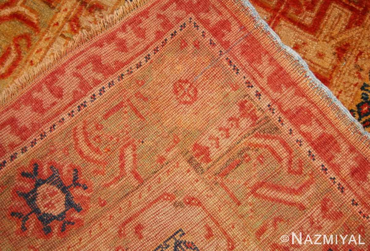 antique turkish oushak runner 49203 weave Nazmiyal