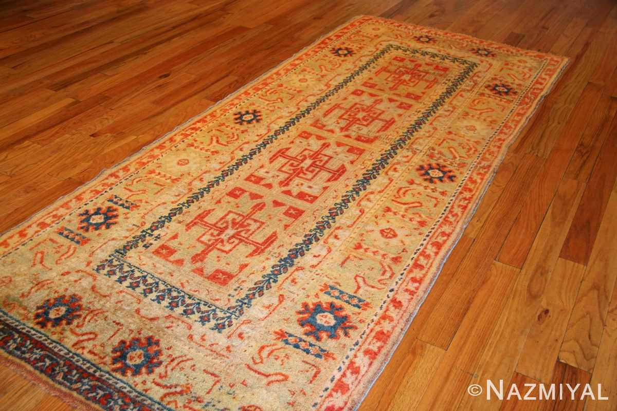 antique turkish oushak runner 49203 whole Nazmiyal