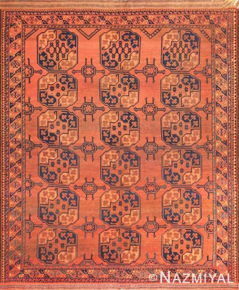 antique west turkestan yamout rug 50731 Nazmiyal