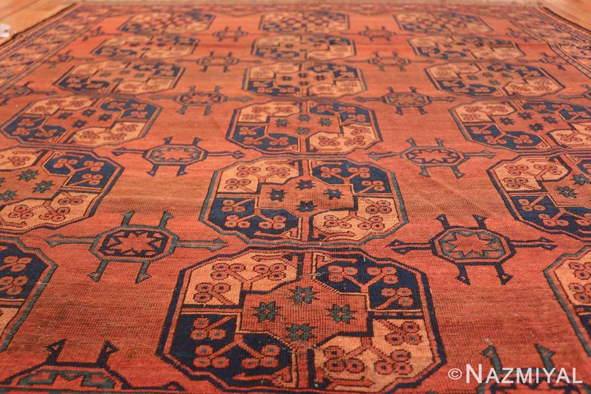 Antique West Turkestan Yamout Rug 50731 Field Rows Nazmiyal