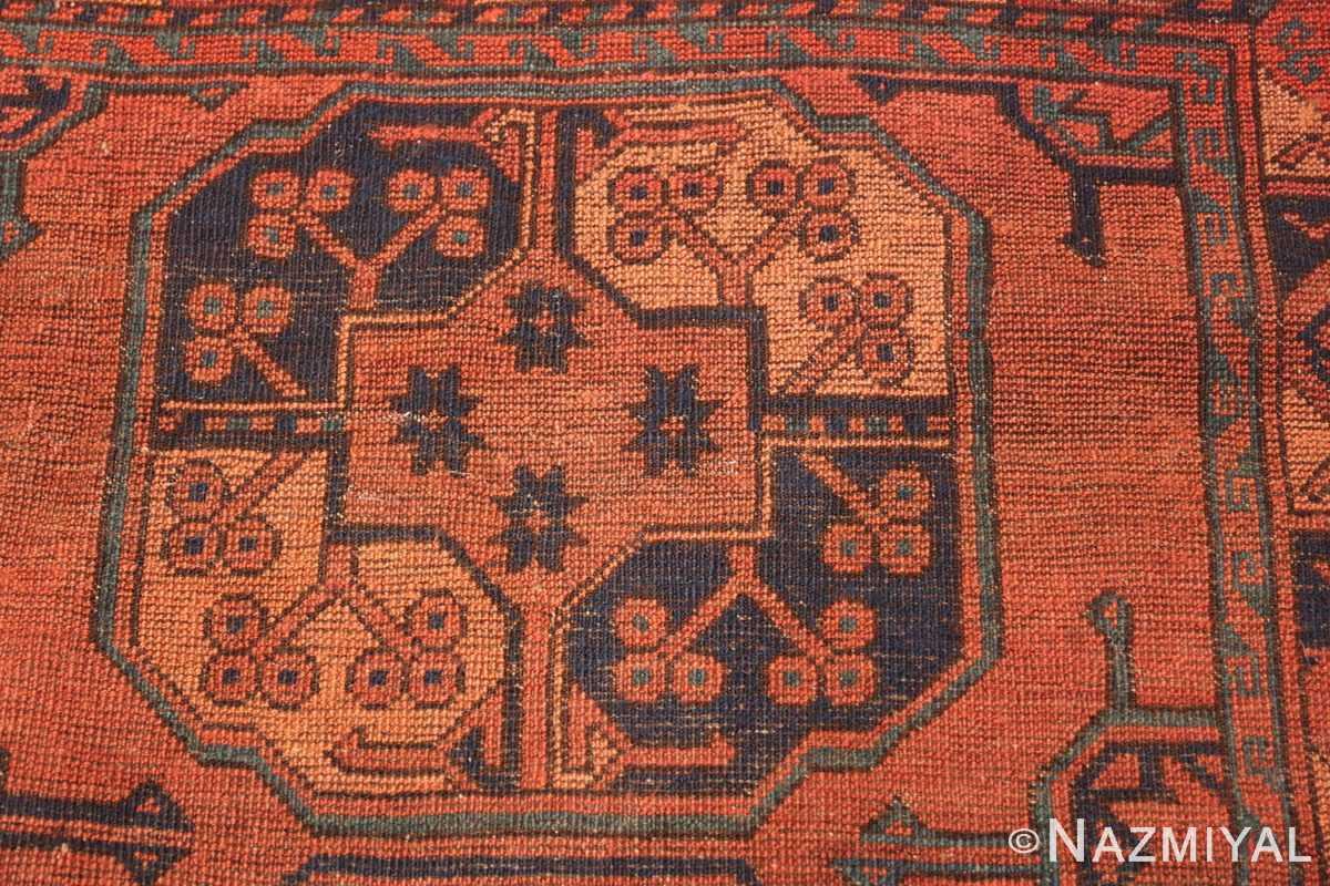 Antique West Turkestan Yamout Rug 50731 Knots Woven Nazmiyal