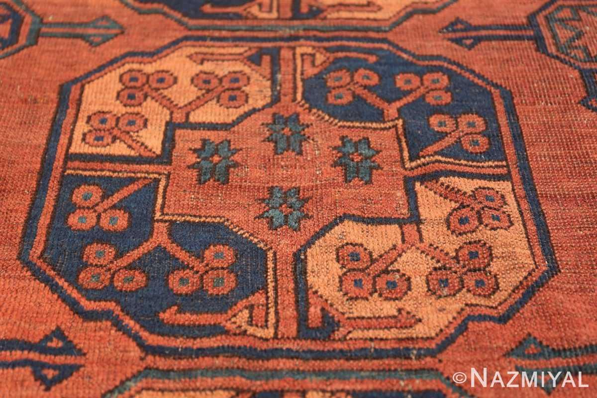 Antique West Turkestan Yamout Rug 50731 Medallion Nazmiyal