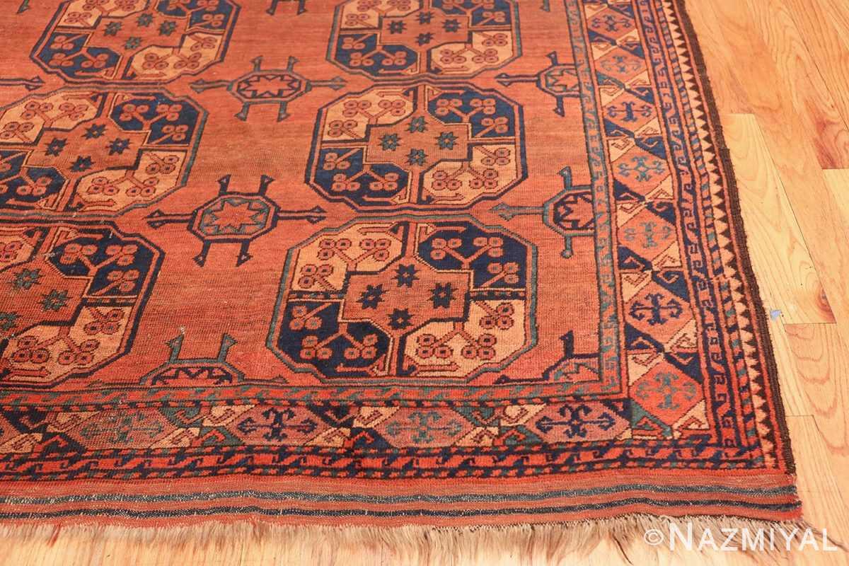Antique West Turkestan Yamout Rug 50731 Side Corner Nazmiyal