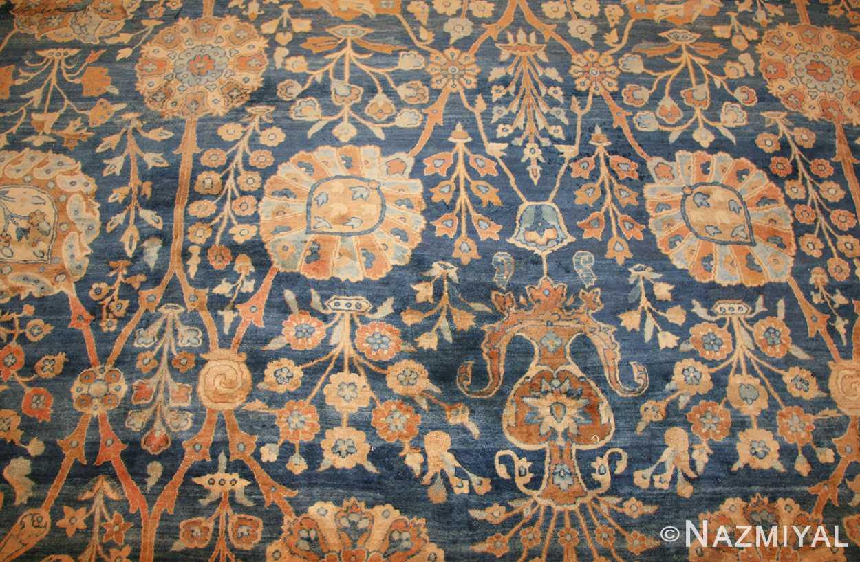 blue vase design large antique persian kerman rug 48225 field Nazmiyal