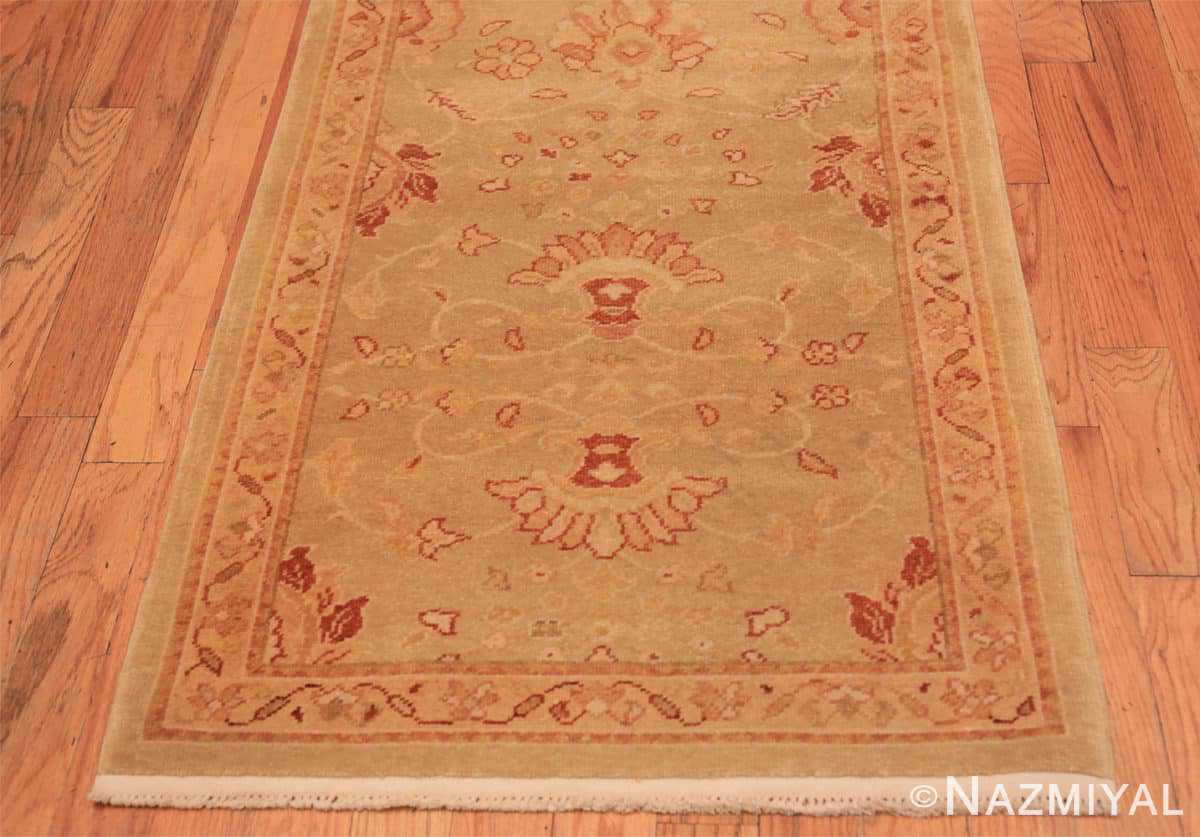 Border contemporary modern Oushak runner rug 46155 by Nazmiyal