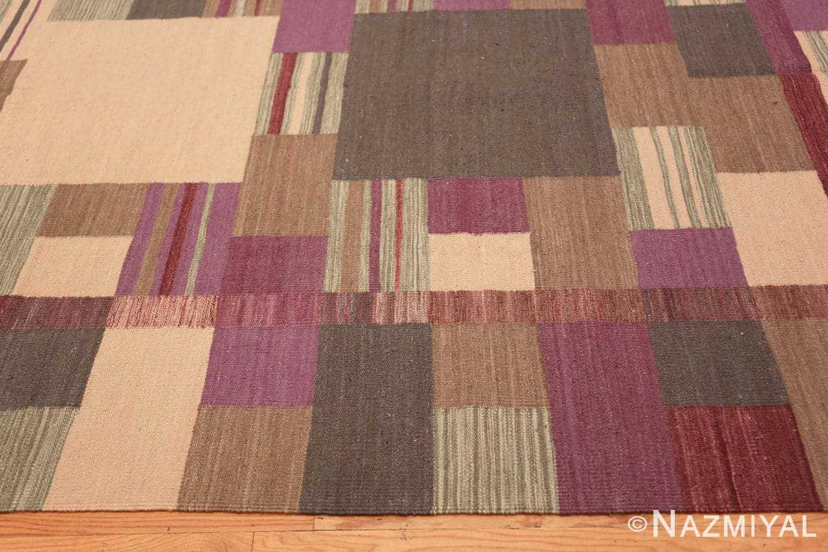 Border Swedish Scandinavian style Modern Kilim rug 48477 by Nazmiyal