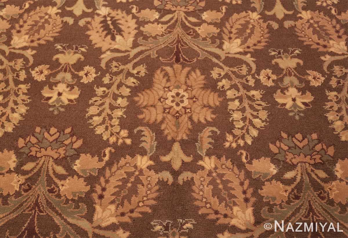 Close-up French design modern Chinese Savonnerie rug 44697 by Nazmiyal