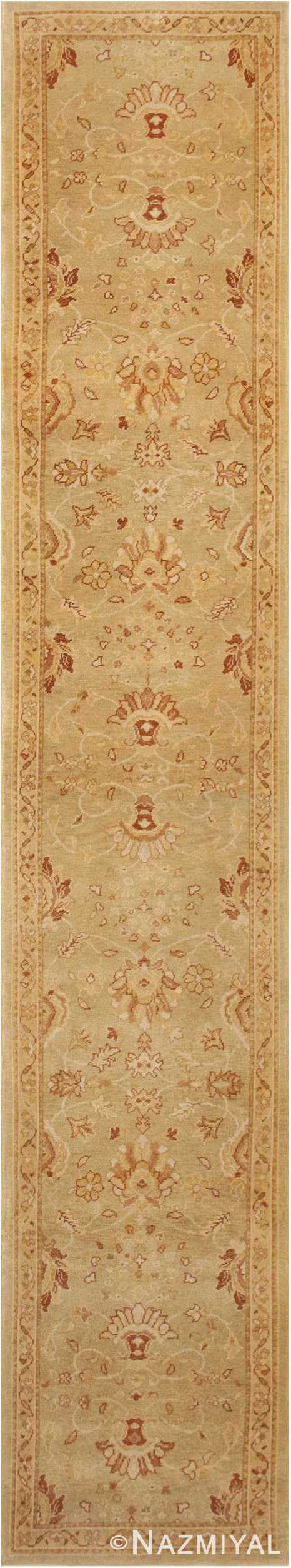 Contemporary Modern Oushak Runner Rug #46155 by Nazmiyal Antique Rugs