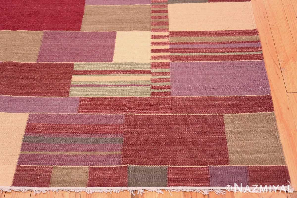 Corner Swedish inspired Scandinavian Modern Kilim carpet 48479 by Nazmiyal
