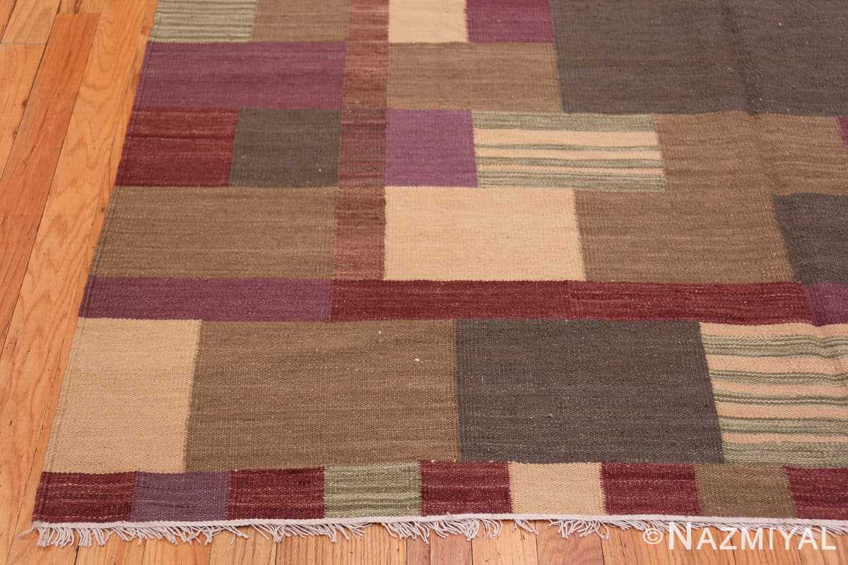 Corner Swedish Scandinavian style Modern Kilim rug 48477 by Nazmiyal