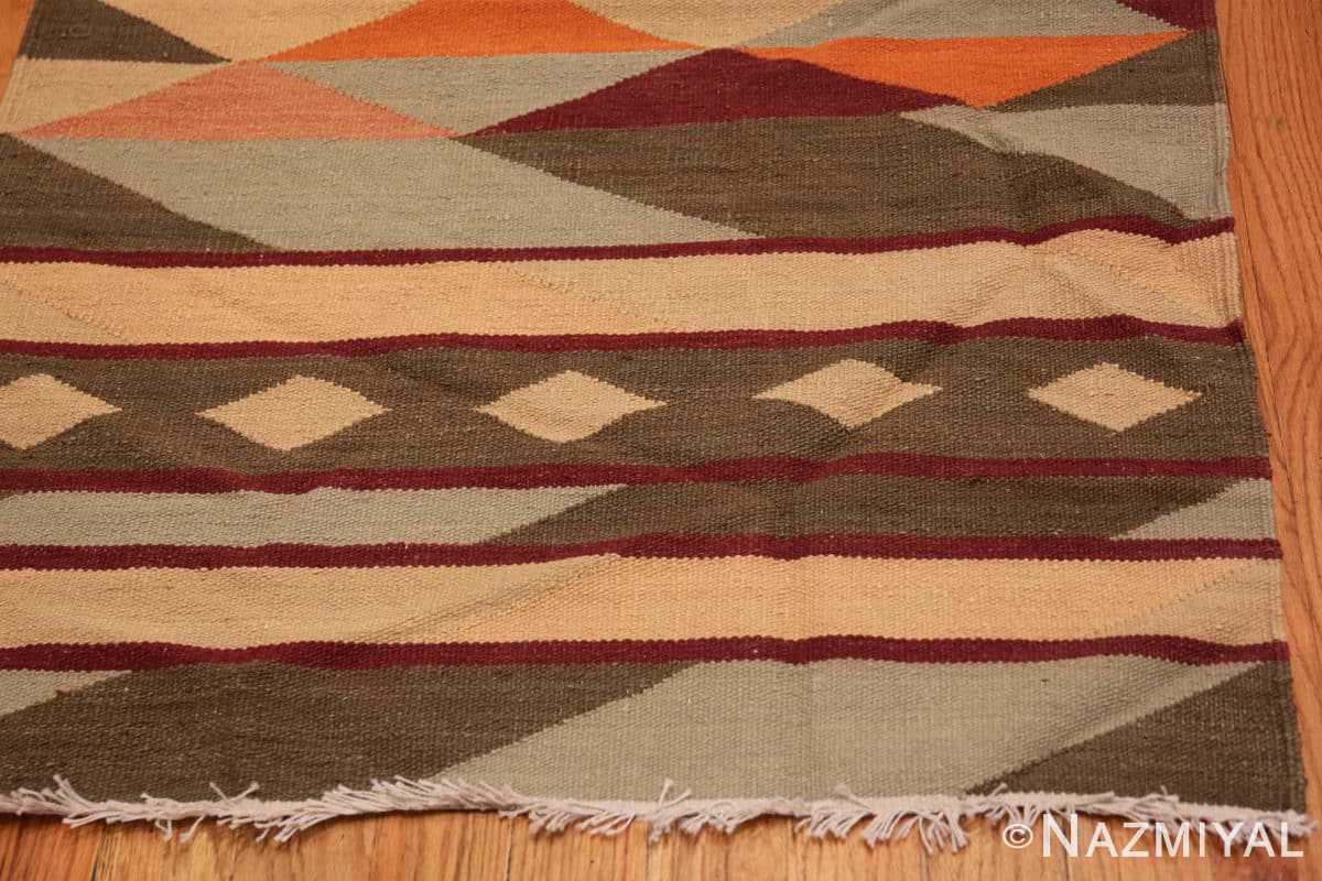 Corner Vintage Swedish inspired Modern Indian Kilim runner 48476 by Nazmiyal
